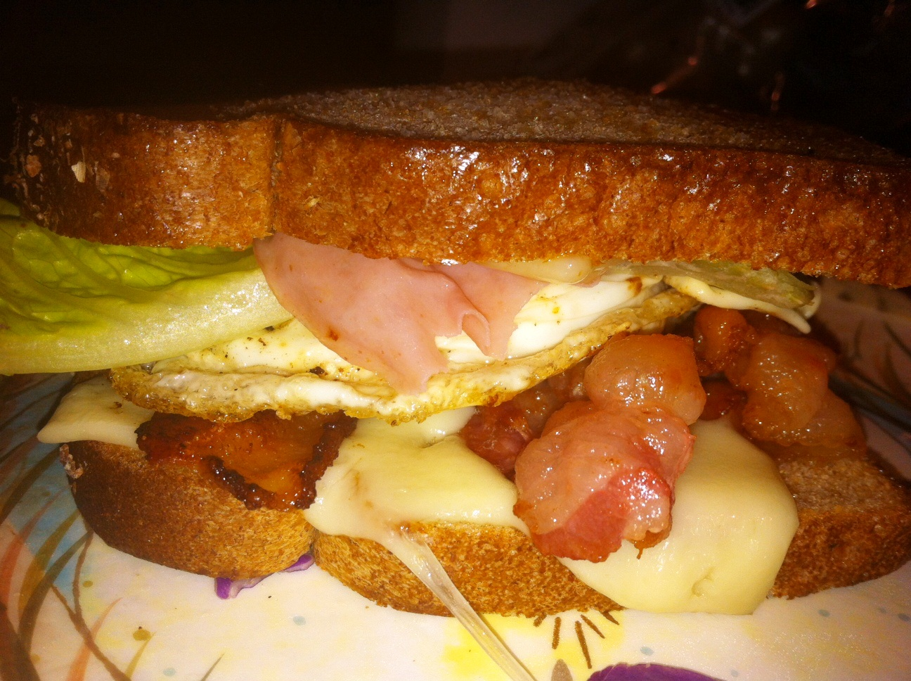 You will need 2-3 strips of bacon, 2 slices Swiss cheese, 1 egg, Dijon ...