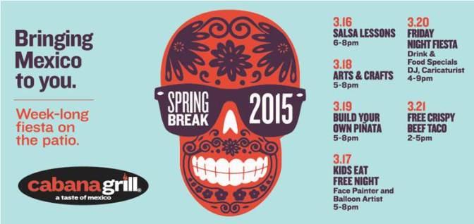 Spring Break Fiesta at Cabana Grill